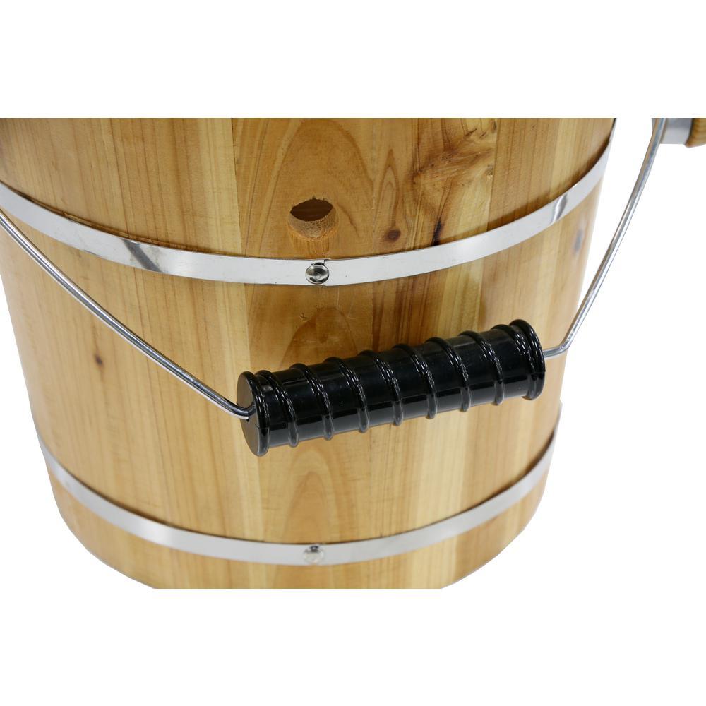 Elite-Gourmet 4 Qt. Old Fashioned Pine Wood Bucket Ice Cream Maker