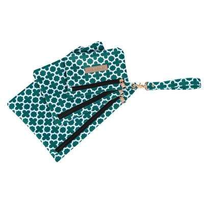 Aria Broadway 3-Piece Green Travel Pouch Set