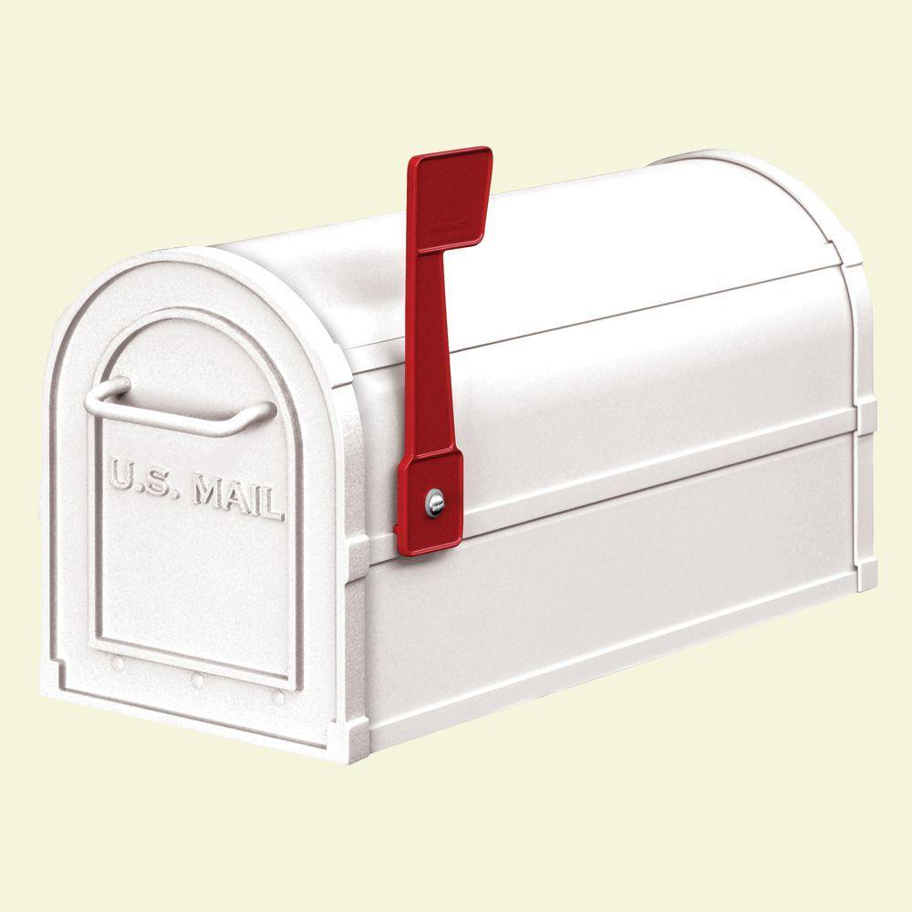 Salsbury Industries 4800 Series Post-Mount Heavy-Duty Rural Mailbox