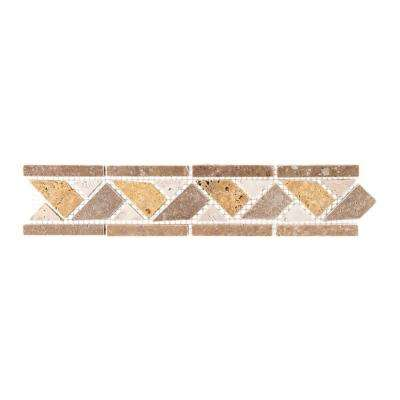Piza Beige/Cream 2.5 in. x 11.375 in. x 10 mm Travertine Decorative Accent Floor/Wall Tile