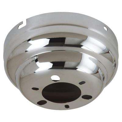 6 in. W. Chrome Flushmount Ceiling Fan Canopy