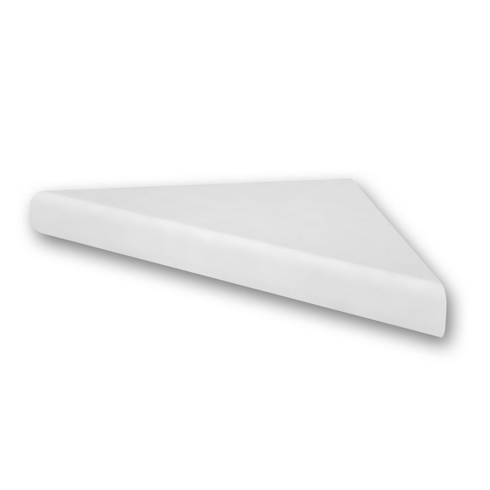 15 in. Corner Shelf Niche in White