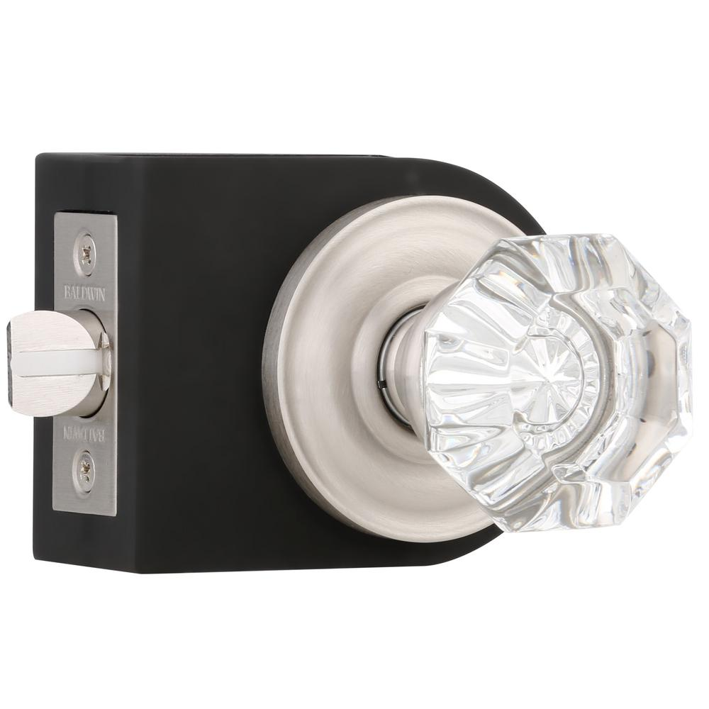 Baldwin Filmore Satin Nickel Hall/Closet Crystal Knob