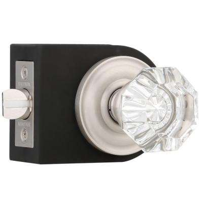 Filmore Satin Nickel Hall/Closet Crystal Door Knob