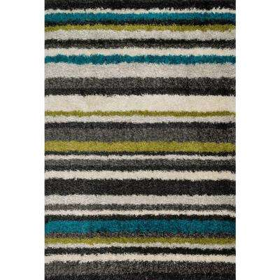 Cosma Lifestyle Collection Green/Multi 5 ft. 2 in. x 7 ft. 7 in. Area Rug