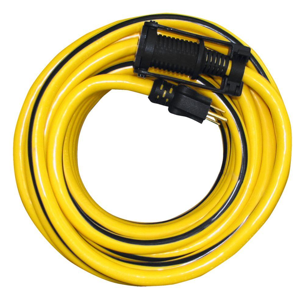 50 ft.10/3 SJTW Outdoor Extension Cord with E-Zee Lock and Lighted