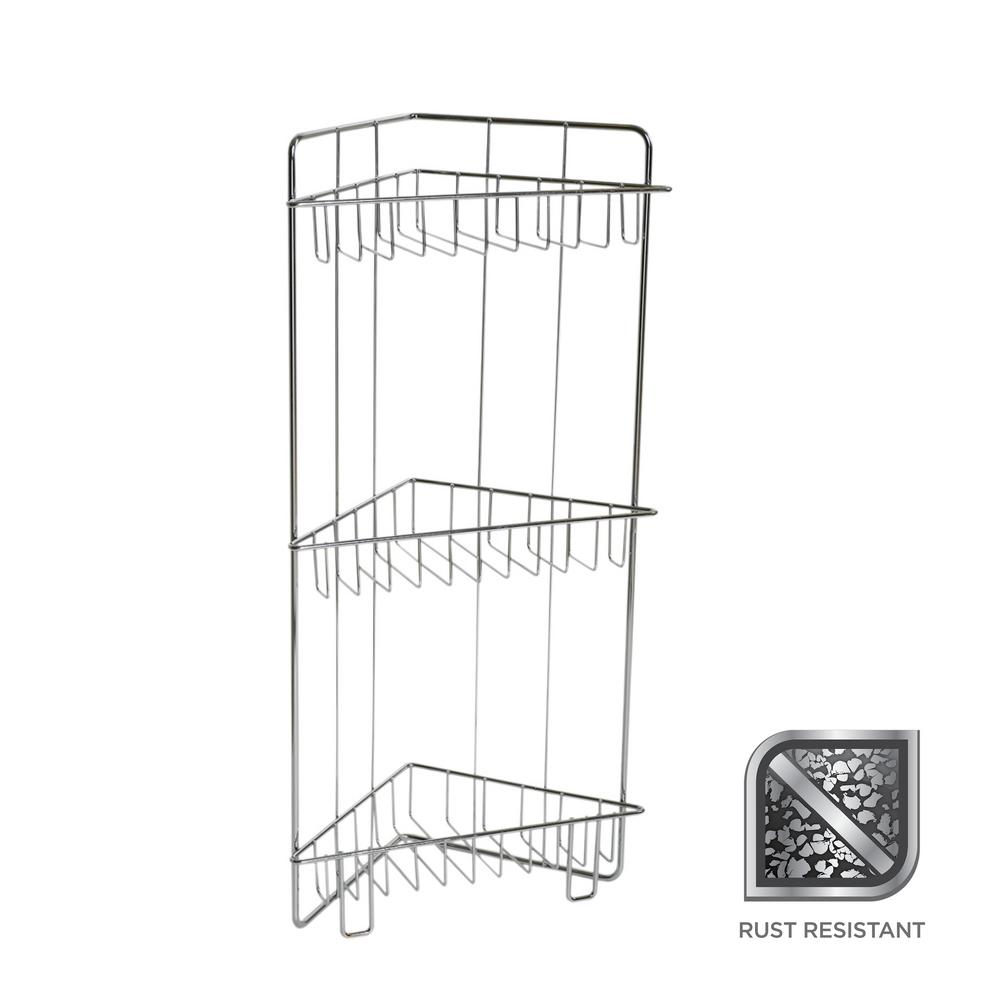 Glacier Bay 23 in. Floor Caddy in Chrome-7537SSHD - The Home Depot