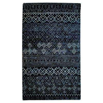Dakota Navy/Gray 5 ft. x 7 ft. Indoor Area Rug