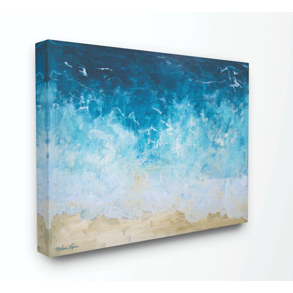 BLUE WALL BRICKS PATTERN CANVAS ART PICTURE LARGE SIZES WS2  MATAGA .