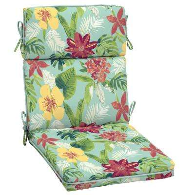 Elea Tropical Outdoor High Back Dining Chair Cushion
