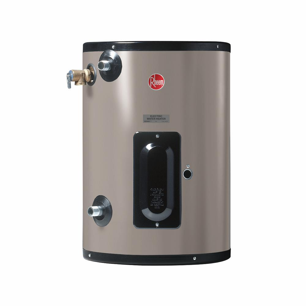 Rheem 20 Gal 480 Volt 6kw 1 Phase Commercial Point Of Use Electric Tank Water Heater Egsp20 480 Volt 6kw Pou The Home Depot