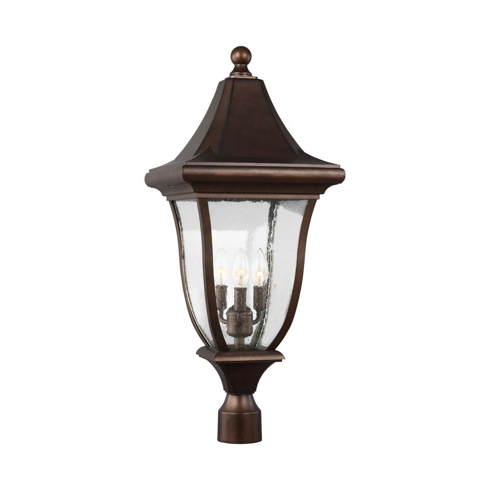 Oakmont 3-Light Outdoor Patina Bronze Post Light