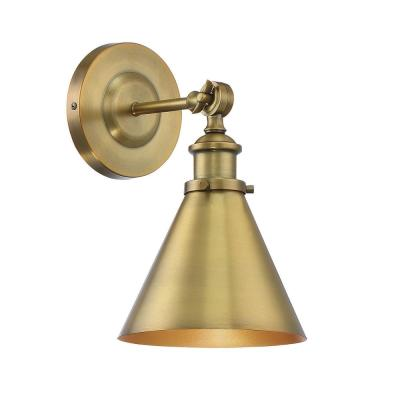 1-Light Warm Brass Sconce