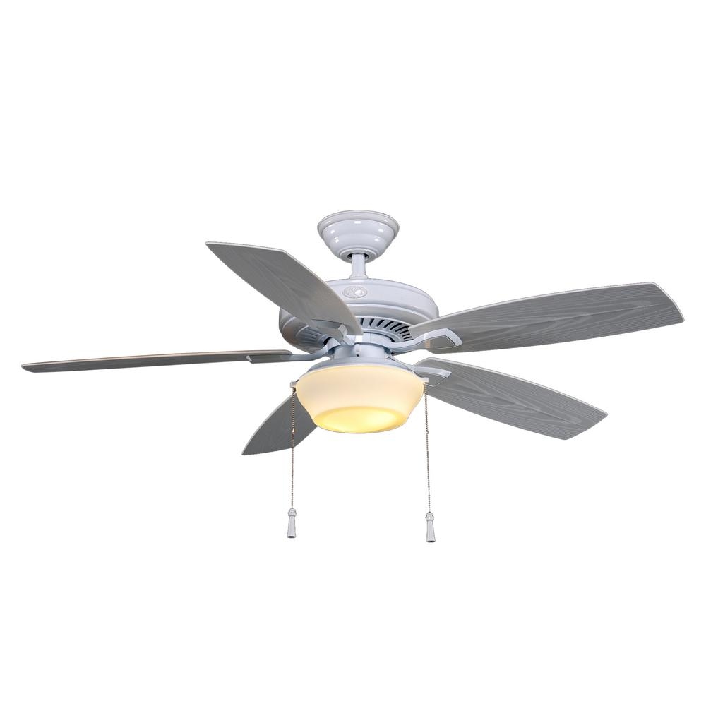 Hampton bay gazebo 52 in led indooroutdoor white ceiling fan with led indooroutdoor white ceiling fan with light kit aloadofball Image collections