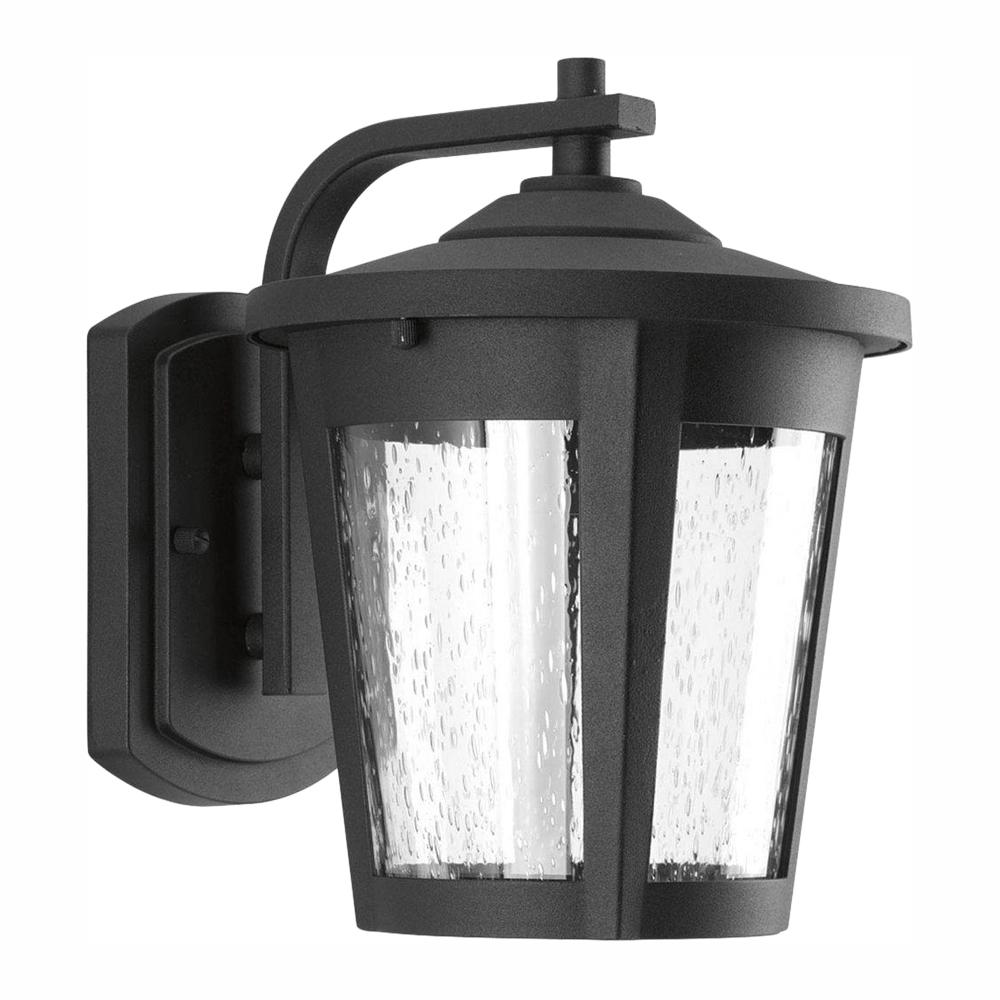 Progress Lighting East Haven Collection 1-Light 9.75 in. Outdoor Black LED Wall Lantern Sconce