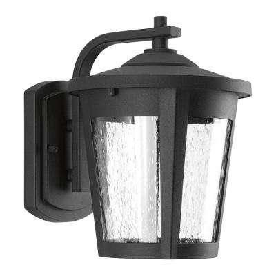 East Haven Collection 1-Light 9.75 in. Outdoor Black LED Wall Lantern Sconce