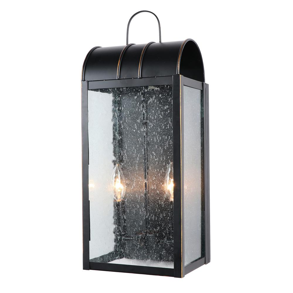 Imperial Home Decor: Y Decor 2 Light 24 In. Outdoor Imperial Black Wall Mount