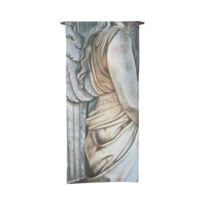 "Gray and Tan ""Angel Statue"" Wall Tapestry"