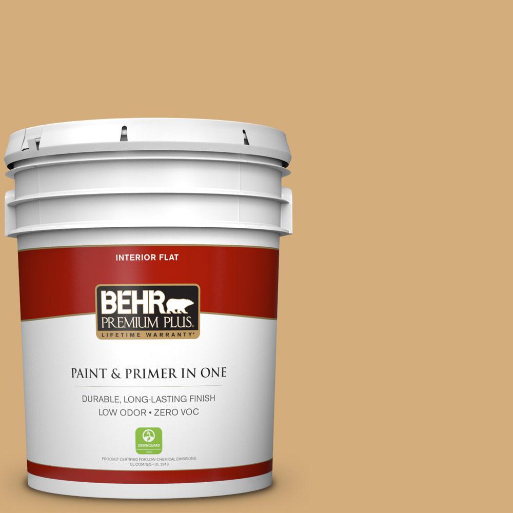 BEHR Premium Plus 5-gal. #310F-4 Rye Zero VOC Flat Interior Paint