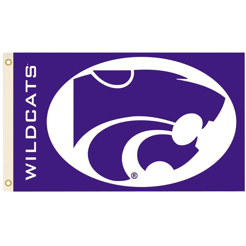 BSI Products NCAA 3 ft. x 5 ft. Kansas State Flag