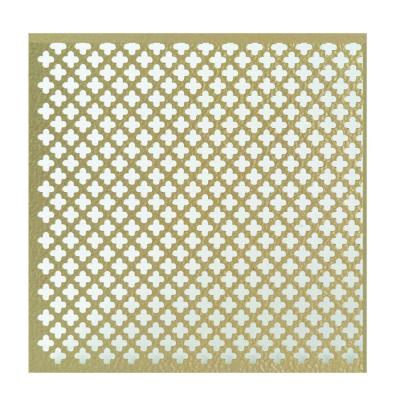 36 in. x 36 in. Cloverleaf Aluminum Sheet in Brass