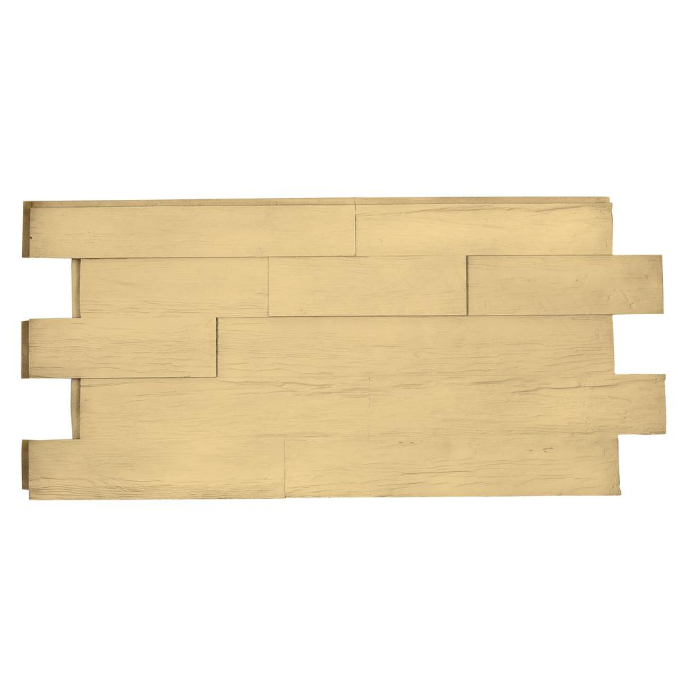 Superior Building Supplies Superior Time Weathered Faux Rustic Panel 1-1/4 in. x 48 in. x 23 in. Unfinished Polyurethane Interlocking Panel