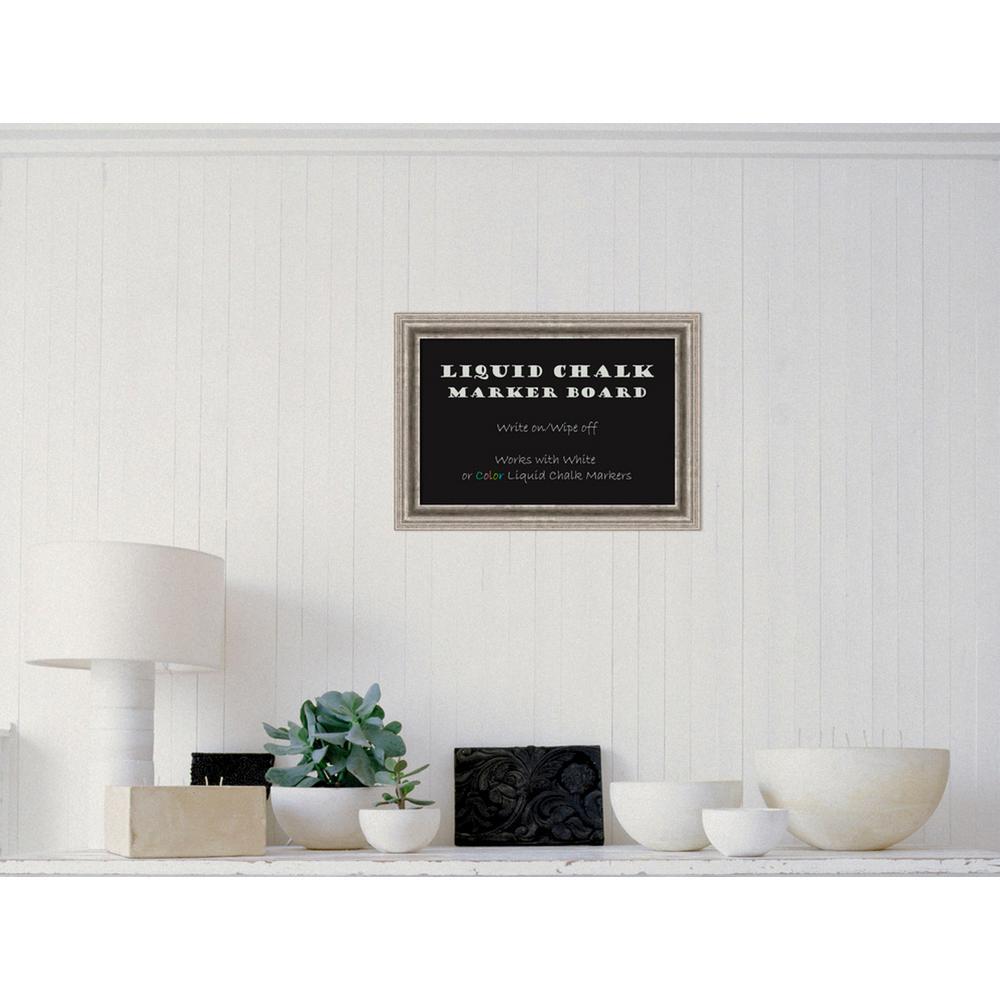 Amanti Art Bel Volto Silver Wood 21 inch W x 15 inch H Framed Liquid Chalk... by Amanti Art