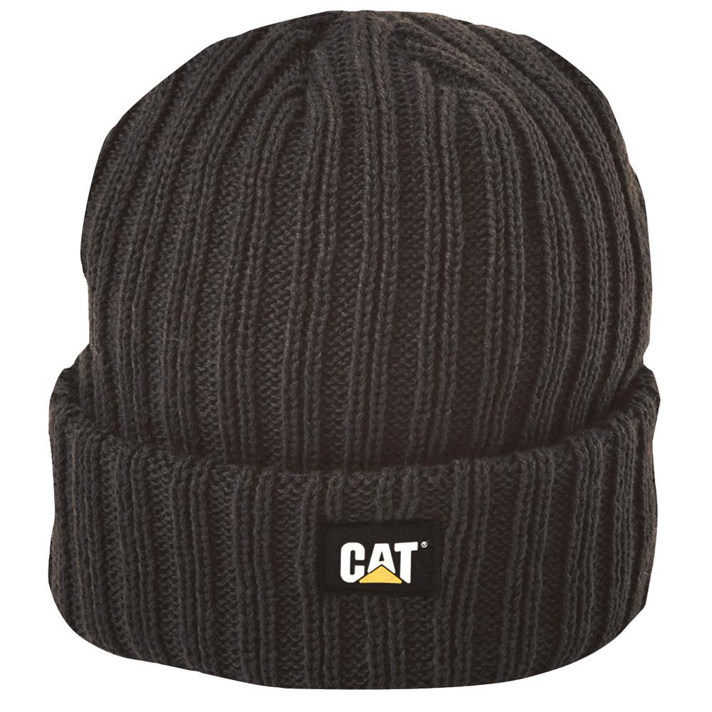 Caterpillar Rib Watch Men s One Size Graphite Acrylic Knit Cap Beanie 49a64edcc4f
