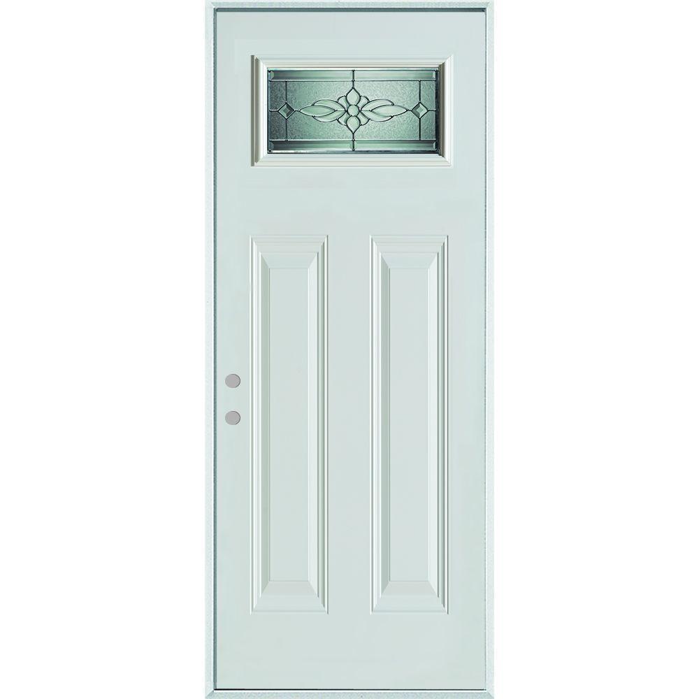 Stanley Doors 32 in. x 80 in. Victoria Classic Zinc Rectangular Lite 2-  sc 1 st  Home Depot & Stanley Doors 32 in. x 80 in. Victoria Classic Zinc Rectangular Lite ...