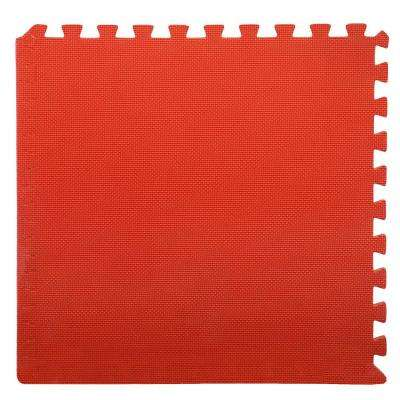 Multi-Color 24 in. x 24 in. x 0.50 in. Interlocking EVA Foam Floor Mat (4-Pack)