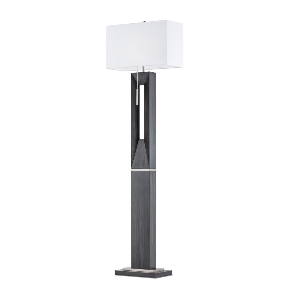 NOVA of California Parallux Floor Lamp Charcoal Gray