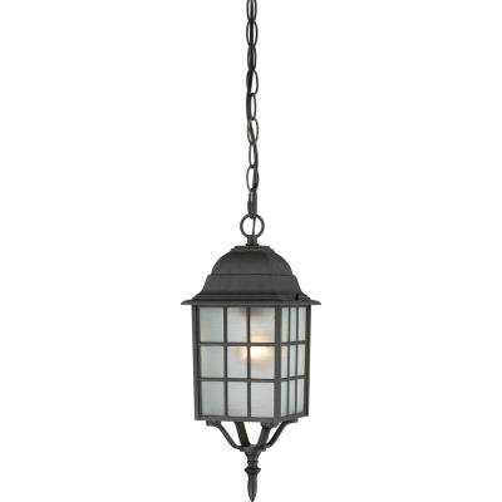 Steve Textured Black 1-Light Outdoor Hanging Lantern