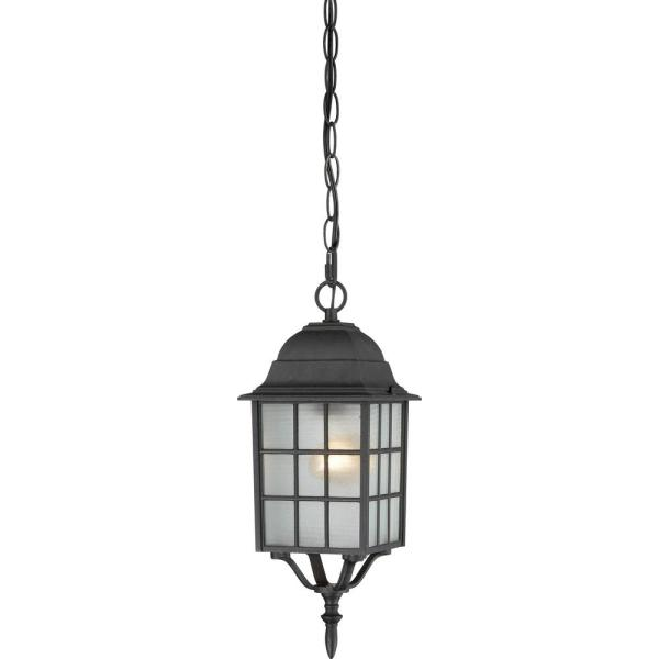Steve Textured Black 1-Light Outdoor Hanging Lantern