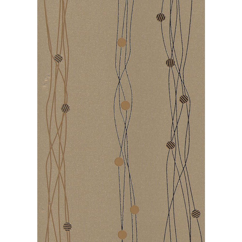 Gregory Bronze Geometric Stripe Wallpaper