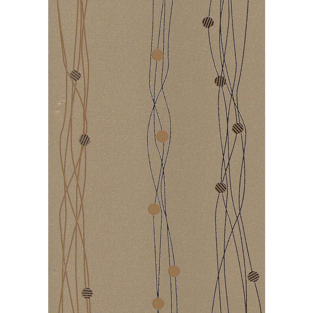 Gregory Bronze Geometric Stripe Wallpaper