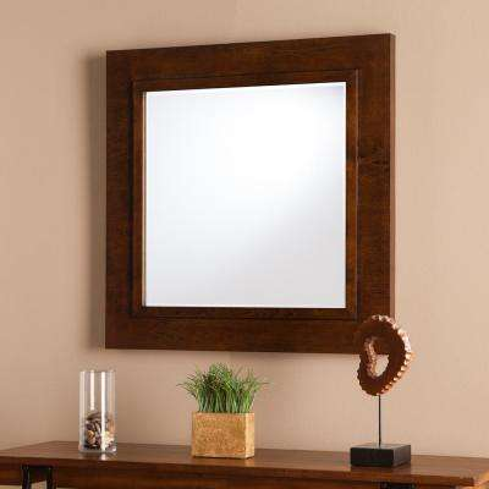 Brittney Oak Saddle Decorative Mirror
