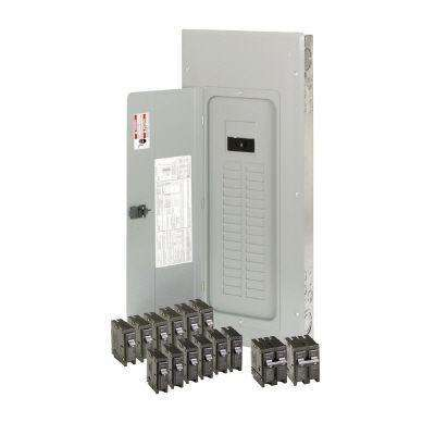 BR 200 Amp 30-Space 40-Circuit Indoor Main Breaker Loadcenter with Cover Value Pack (6-BR115, 6-BR120, 1-BR230, 1-BR250)
