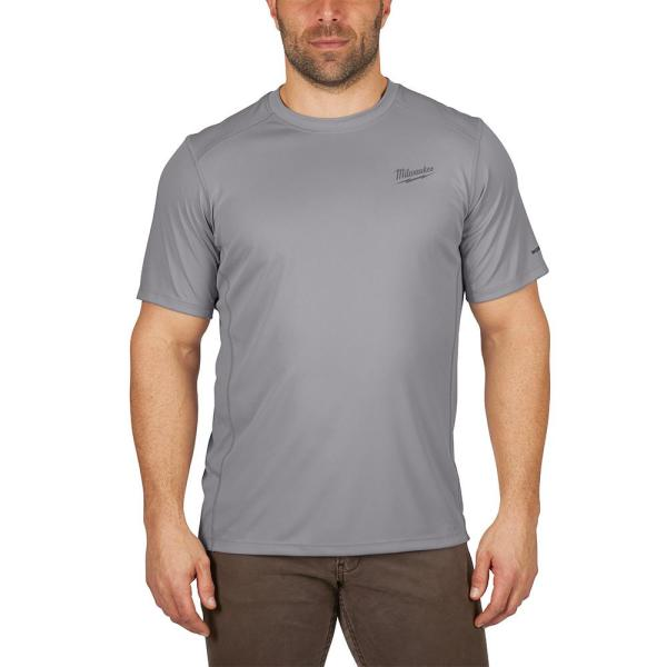 Gen II Men's Work Skin Large Gray Light Weight Performance Short-Sleeve T-Shirt