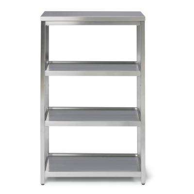 Bold W-24, D-11, H-38 Stainless Steel 4 Tier Bath Shelf Space Saver