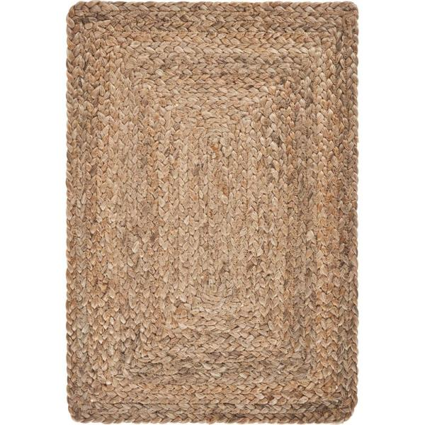 19 in. x 13 in. Natural Jute Classic Braided Placemat (Set of 4)