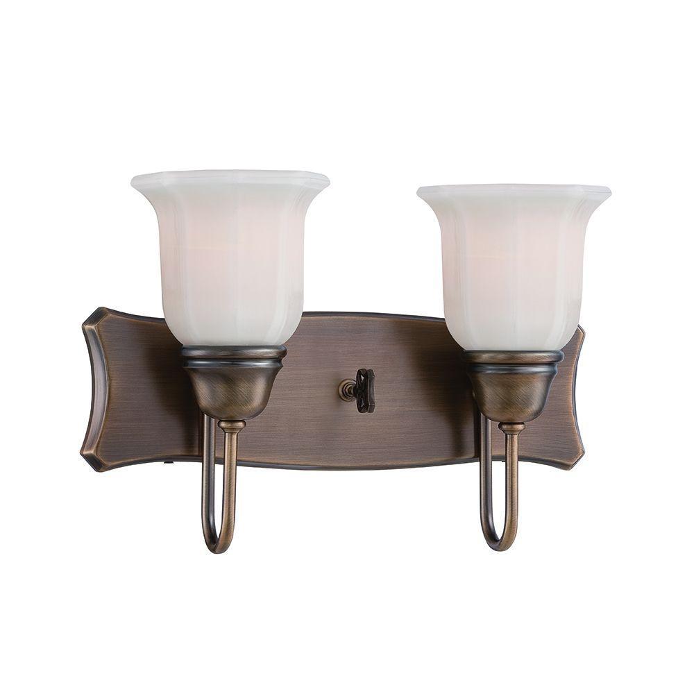 Astor 2-Light Old Satin Brass Bath Bar Light
