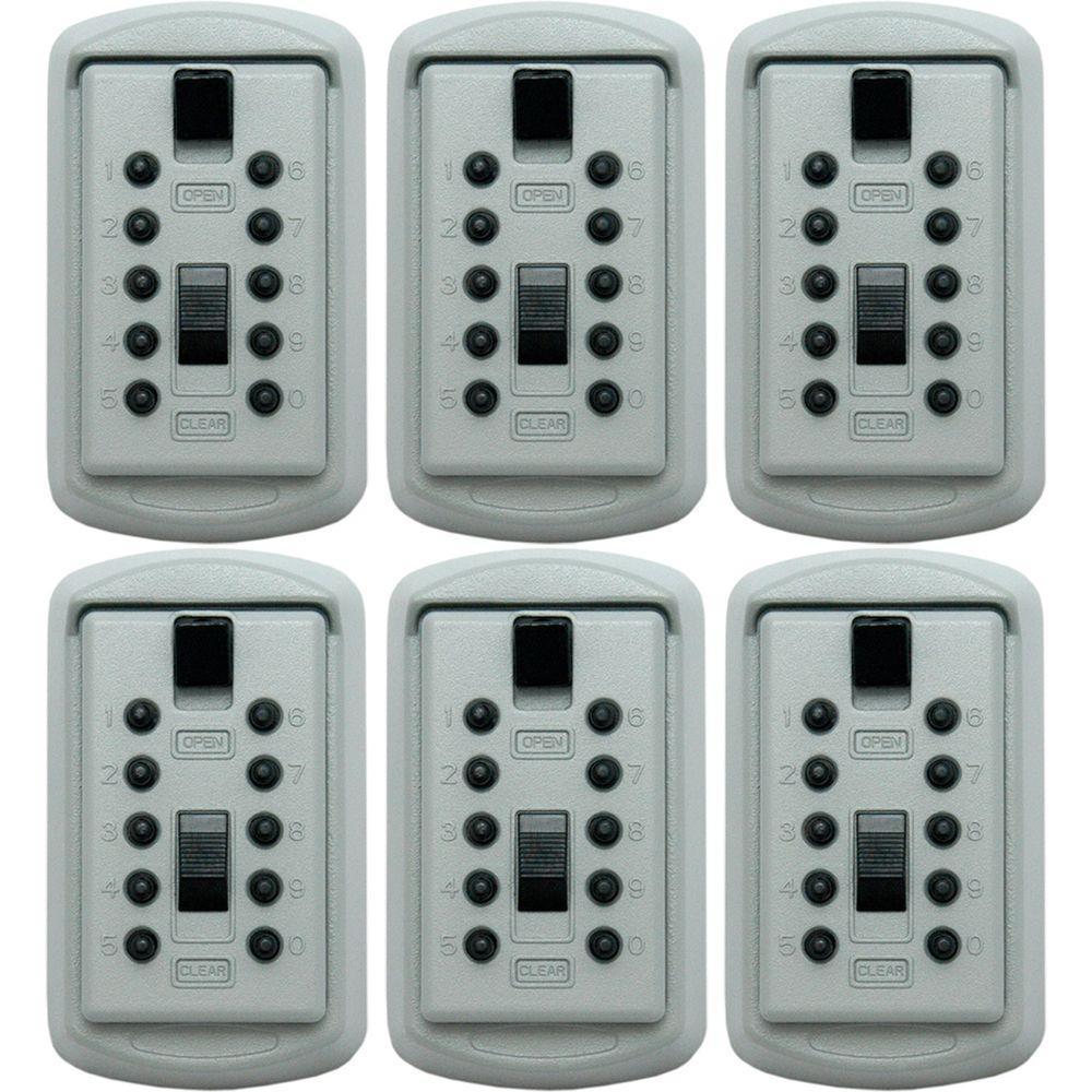 LockState Wall Mounted Lockbox Safe (6-Pack)-DISCONTINUED