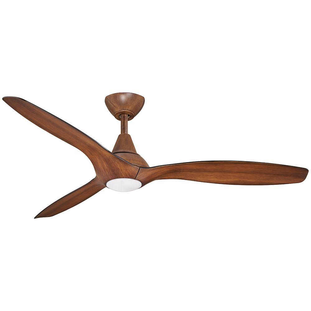 Aire A Minka Group Design Tidal Breeze 56 In Led Indoor Distressed Koa Ceiling Fan With Remote Control 04662 The Home Depot
