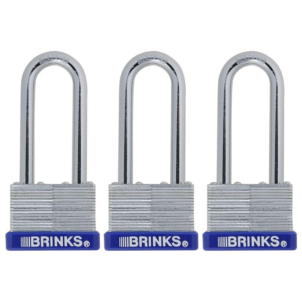 1-13/16 in. (45 mm) Laminated Steel Padlock with 2-3/8 in. Shackle