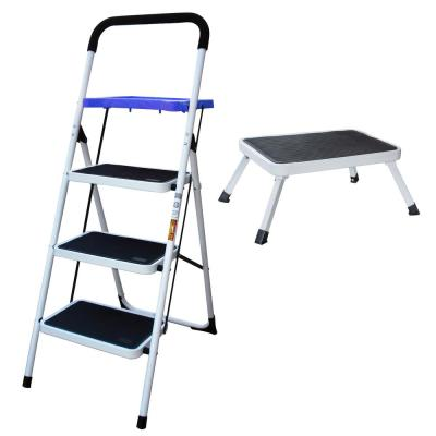 Excellent 3 Step Steel Skinny Mini Step Stool Ladder Hsp 3Gs The Caraccident5 Cool Chair Designs And Ideas Caraccident5Info