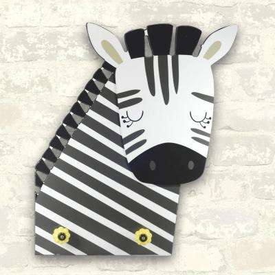 15 in. x 17.5 in. Zebra Knobs 1-Piece Plaque with Knobs