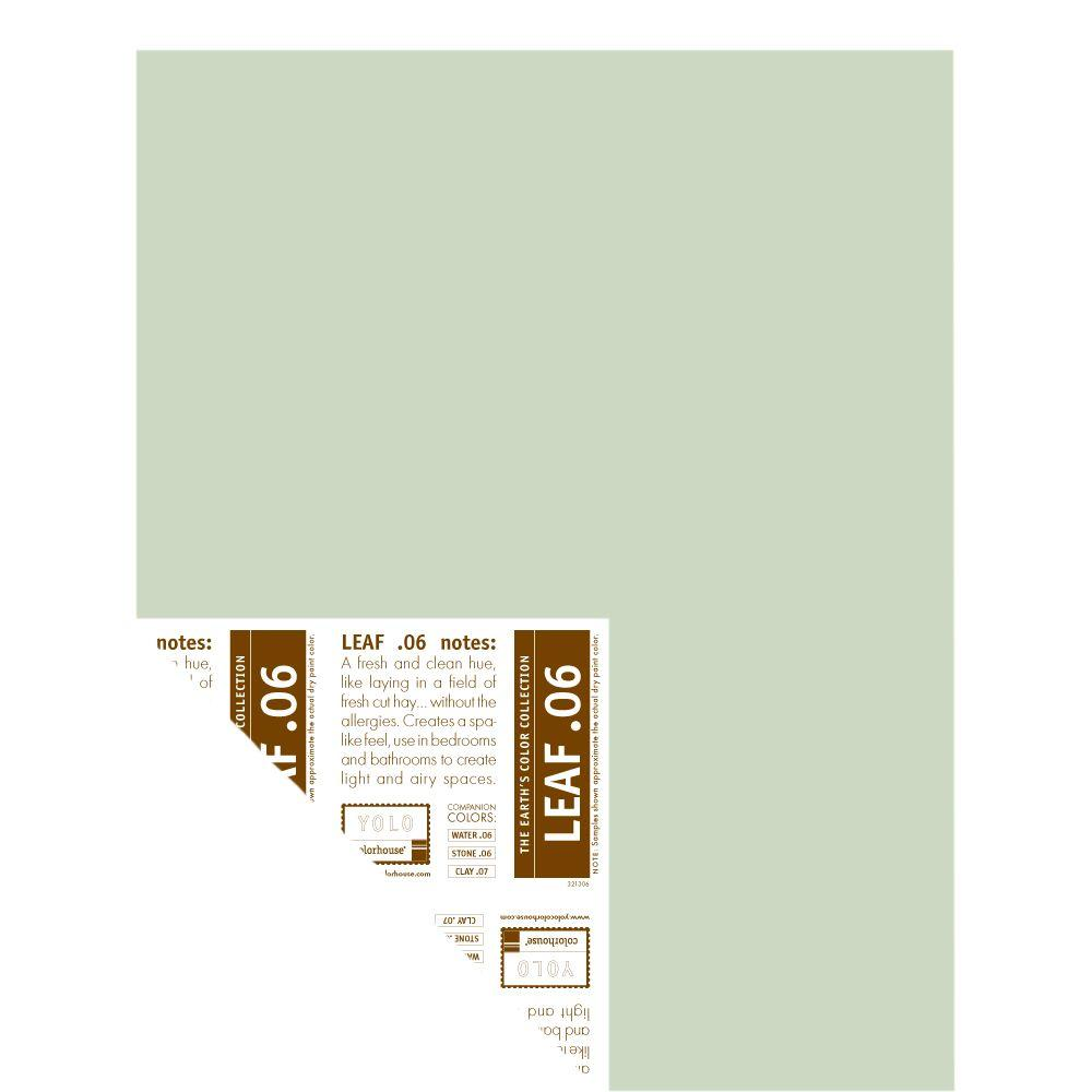 YOLO Colorhouse 12 in. x 16 in. Leaf .06 Pre-Painted Big Chip Sample