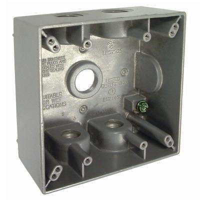 2-Gang Weatherproof Box with Five 1/2 in. Outlets