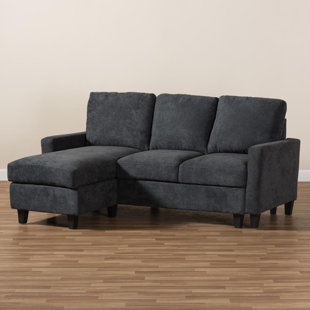 Miraculous Baxton Studio Greyson Dark Gray Fabric Sectional 144 8758 Hd Machost Co Dining Chair Design Ideas Machostcouk