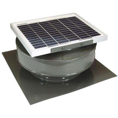 365 CFM Weatherwood Powder Coated 5-Watt Solar Powered Roof Mounted Exhaust Attic Fan
